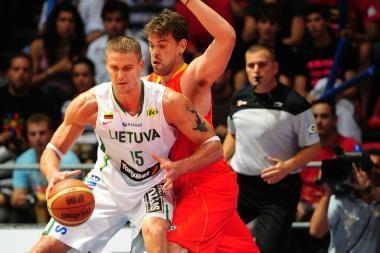 Lietuvos krepšininkai dar kartą neatsilaikė prieš ispanus