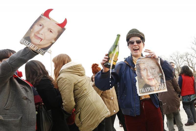 Londono priemiestyje surengta šventė dėl M. Thatcher mirties
