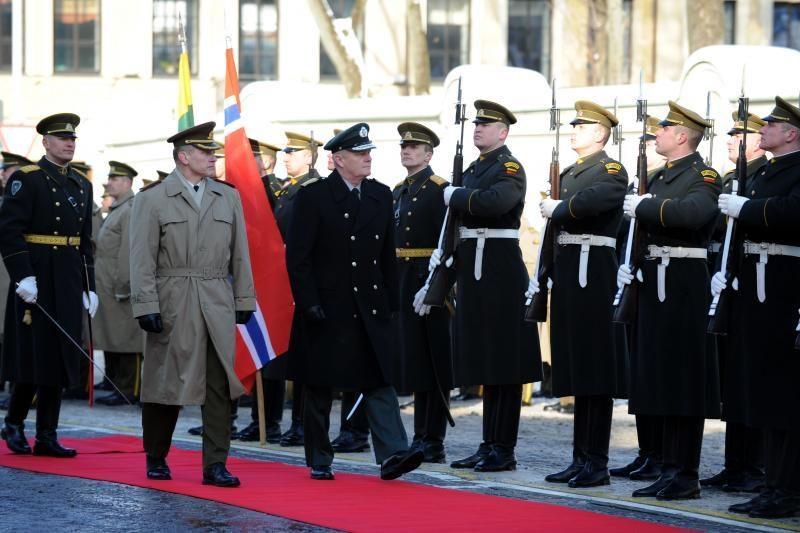 Norvegijos kariuomenės vadą pasitiko A.Pocius (atnaujinta)