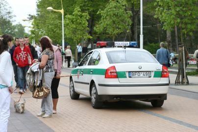 Ilgąjį savaitgalį dirbs daugiau policininkų