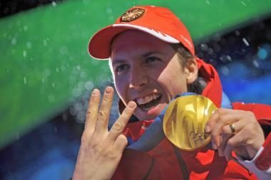 Pirmąjį aukso medalį iškovojo šveicaras