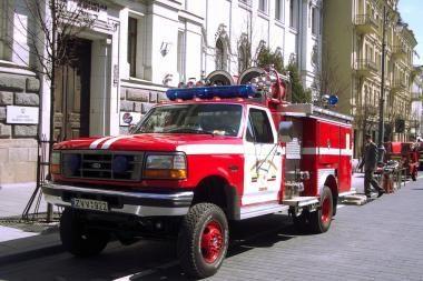 Atvirų durų dienoje - pažintis su gaisrininko specialybe