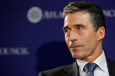 A.F.Rasmussenas: NATO suinteresuota Lietuvos veikla Aljanse