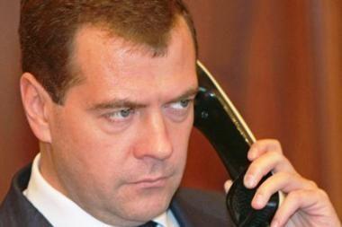 Medvedevas: kol Gruzijai vadovaus Saakašvilis, santykiai su Rusija negerės