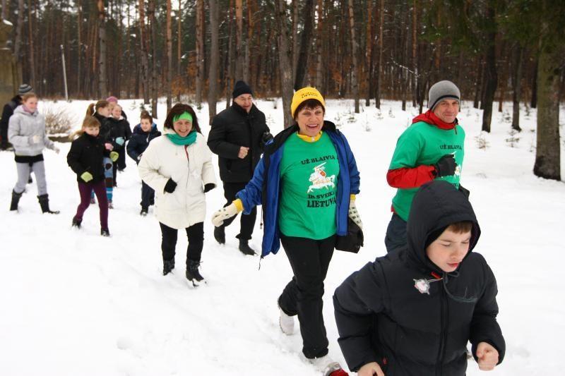 Bėgimas už blaivybę: pusnys entuziastų neatbaidė