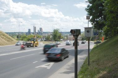 Per savaitę Vilniuje nustatyta beveik 600 greitį viršijusių vairuotojų