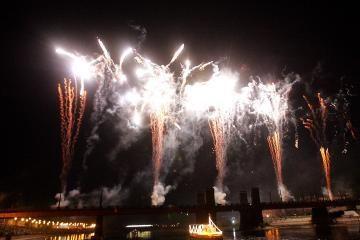 Miesto šventę užbaigė fejerverkai