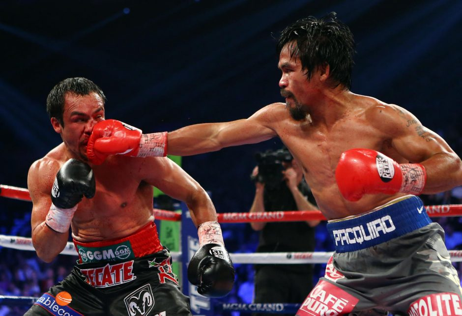 Įspūdingoje bokso kovoje Juanas Manuelis nokautavo Manny Pacquiao