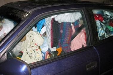 Policijai užkliuvo šlamštas automobilyje