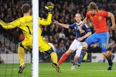 Europos futbolas: ispanai palaužė škotus
