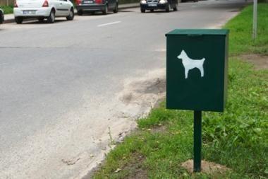 Šunų išmatoms – šiukšliadėžės už 24 tūkst. litų