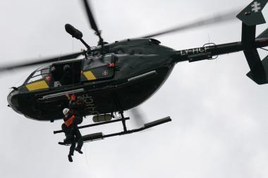 Potvynio zonoje pasieniečiai dislokuos du sraigtasparnius