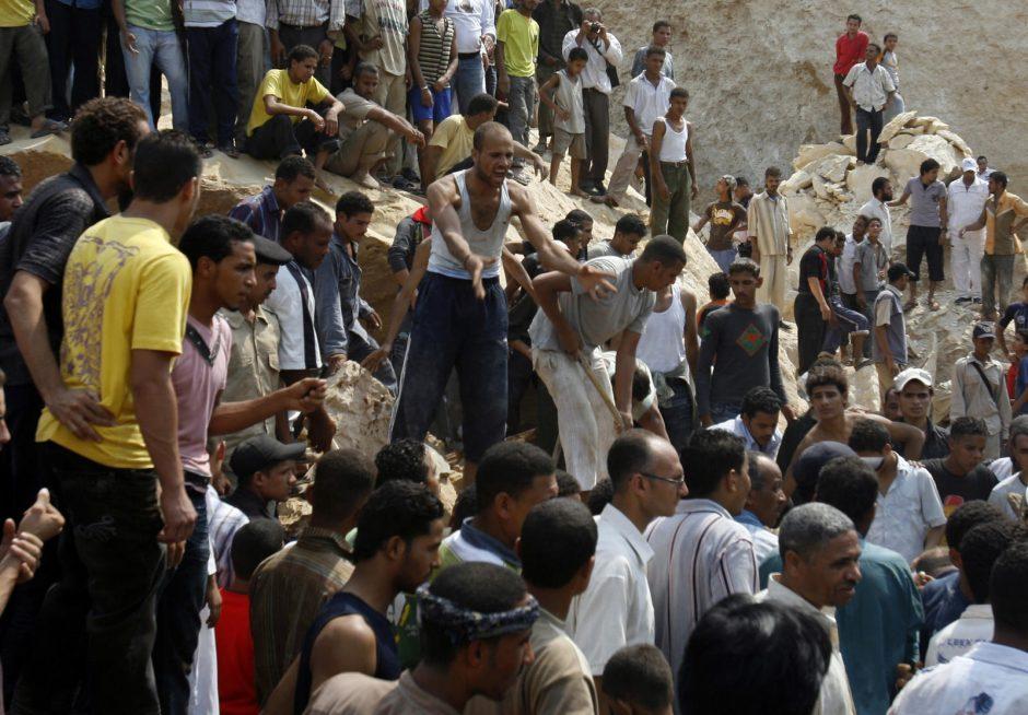 Egipte uolų griūtis pražudė dešimtis nelaimėlių