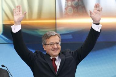 Ilsėtis slapta Neringoje Lenkijos prezidentui padėjo ir lietuvių kalba
