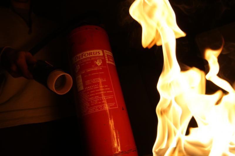Grigiškėse padegtos vidurinės mokyklos durys