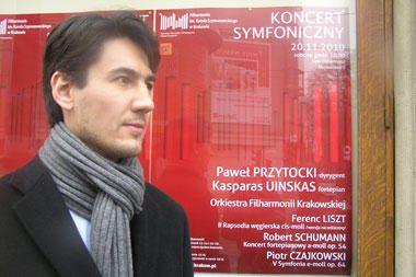Pianistas K.Uinskas Krokuvoje atliks R.Šumano koncertą