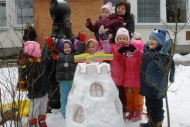 Sniego skulptūrų konkursas pratęsiamas iki vasario
