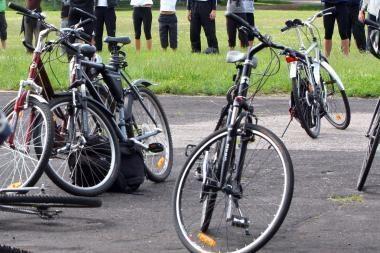 Nuo penktadienio Verkių gatvėje - dviračių takas