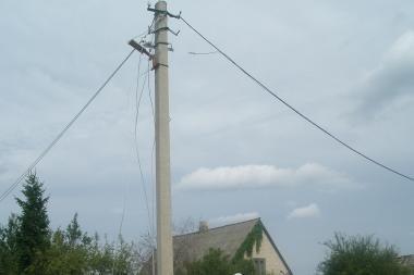 Radikių kaime pavogtas beveik 1 km vėtros nutrauktų laidų