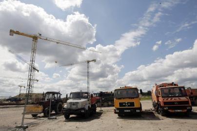 Nacionalinio stadiono statybvietėje vyksta darbai