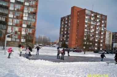 Vilniuje 15-oje seniūnijų išlietos ledo čiuožyklos (adresai)