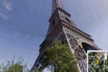 Ekskursija po Niujorką ir Paryžių trimačiuose žemėlapiuose