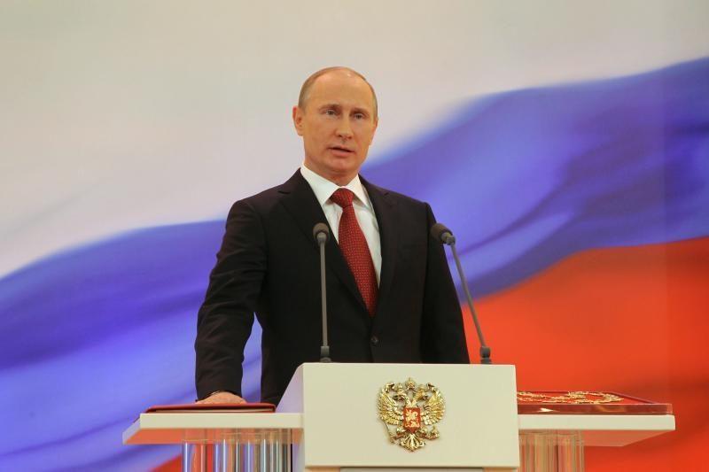 V.Putinas pasišaipė iš opozicijos kritikos dėl skrydžio su gervėmis