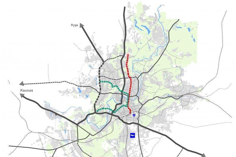 Vilniuje siūlo įdiegti dvi tramvajaus linijas