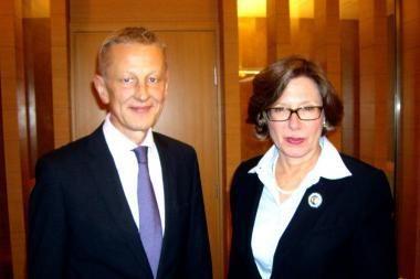 Aplinkos ministras susitiko su JAV ambasadore