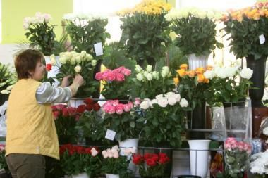 Motinos dieną Klaipėdoje suaktyvėjo prekyba gėlėmis