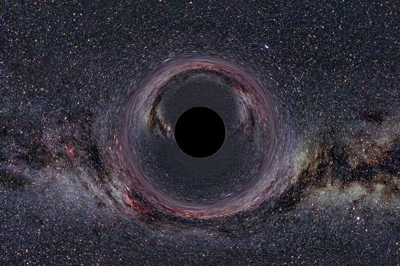 Kas nutiktų įkritus  į juodąją  skylę?