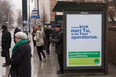 2011-aisiais mobiliojo ryšio operatorių reklamos mažės