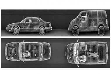 Automobilius tikrins Rentgeno principu