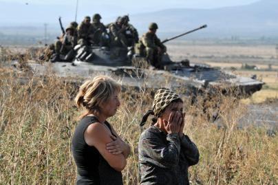 Rusijos kariai nesiruošia trauktis (nuotr.)