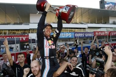 Suzukos trasoje triumfavo S.Vettelis
