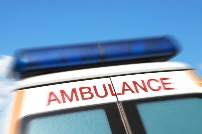 "Kelyje ""Via Baltica"" susidūrė du vilkikai, sužeistas vairuotojas"
