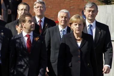 Latvijos prezidentas nesigaili, kad buvo Pergalės jubiliejaus iškilmėse Maskvoje
