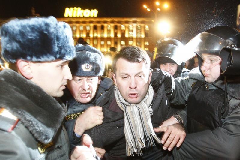Rusija pritarė baudų sugriežtinimui protestuotojams
