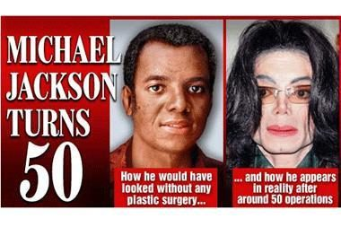 Kaip M.Jacksonas atrodytų be plastinės chirurgijos?