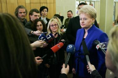 D.Grybauskaitė apie V.Ušacką: niekada nesu teigusi, kad jis turi mano paramą
