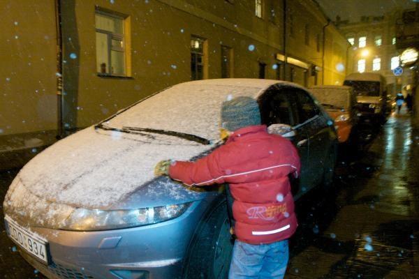 Vilniuje – pirmasis sniegas