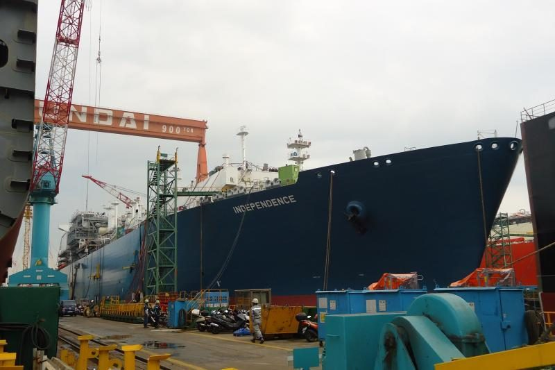"""SGD laivui-saugyklai suteiktas """"Independence"""" vardas"""