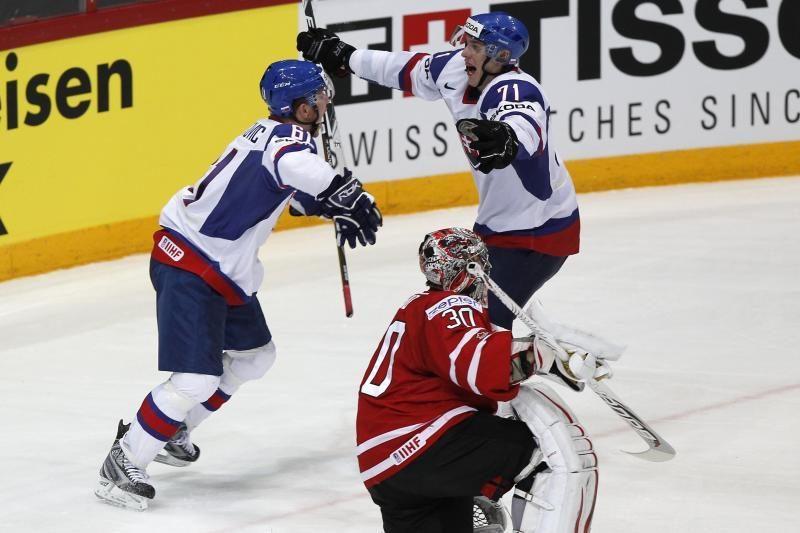 Slovakai iš kovos dėl medalių eliminavo kanadiečius