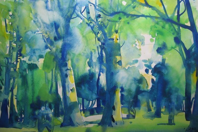 Plenerą Klaipėdos skulptūrų parke pradės akvarelių paroda