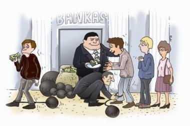 Pasivadinusios bankais prisivirė košės (papildyta)