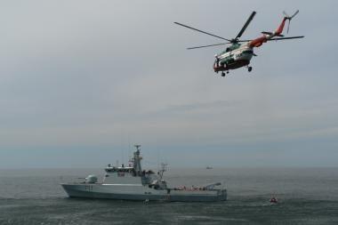 Baltijos jūroje - Patrulinių laivų diviziono mokymai