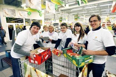 """""""Maisto banko"""" paramą padės dalyti """"City Service"""" savanoriai"""