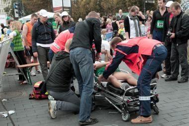 73 metų bėgiko širdis Vilniaus maratono neatlaikė
