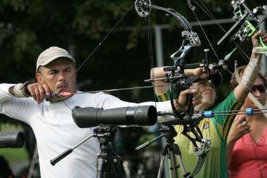 Europos šaudymo iš lanko čempionate lietuvis - septintas
