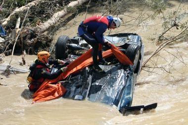 Potvynių aukų Prancūzijoje daugėja